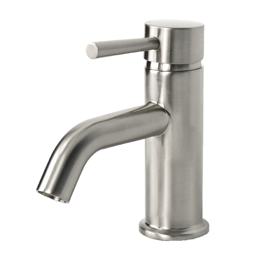 LSH European Brushed Nickel Single Hole Bathroom Faucet - - Amazon.com