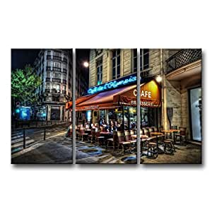 So crazy art 3 piece wall art painting cafe for Bar decor amazon