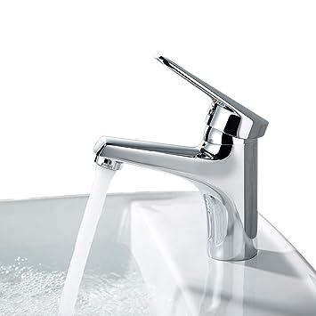 Desfau Chrom Wasserhahn Waschbecken Bad Waschtischarmatur Armatur