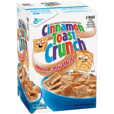 Granola Crunch Cinnamon (Cinnamon Toast Crunch Cereal 2 Bags, 43.75oz box by General Mills)