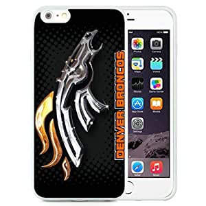 Great Quality iPhone 6 Plus 5.5 Inch TPU Case ,Beautiful And Unique Designed Case With Denver Broncos 2 White iPhone 6 Plus Cover Phone Case