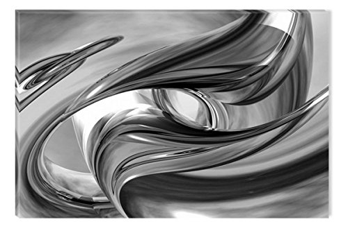 Inspirational Art Black and White Silver York Canvas Wall Art Abstract Picture Eco Light Framed Ready to Hang Artwork for Home Decoration by Inspirational Art