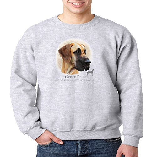Great Dane Crewneck Sweatshirt (Great Dane Crewneck Sweatshirt Dog Owner S-3XL (Heather Gray, 2XL))