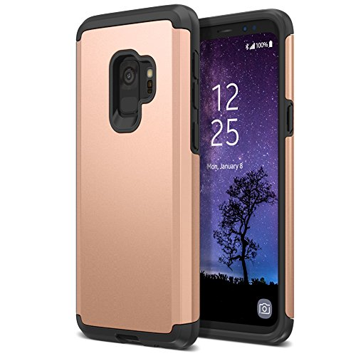 Trianium Protanium Galaxy S9 Case with GXD Impact Gel Cushion and Reinforced Hard Bumper Frame [Premium Protection] Heavy Duty Covers for Samsung Galaxy S 9 (2018) Phone - Gold
