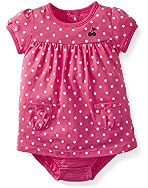 Pink Cherry Dress Romper 6 Months
