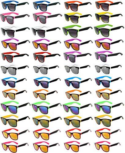 48 Pieces Per Case Wholesale Lot Sunglasses. Assorted Colored Frame Fashion Sunglasses.Bulk Sunglasses - Wholesale Bulk Party Glasses, Party Supplies. (Sunglasses Wholesale Lots)