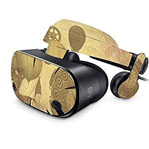 MightySkins Skin Compatible with Samsung Odyssey VR – Steam Punk Paper   Protective, Durable, and Unique Vinyl Decal wrap Cover   Easy to Apply, Remove, and Change Styles   Made in The USA