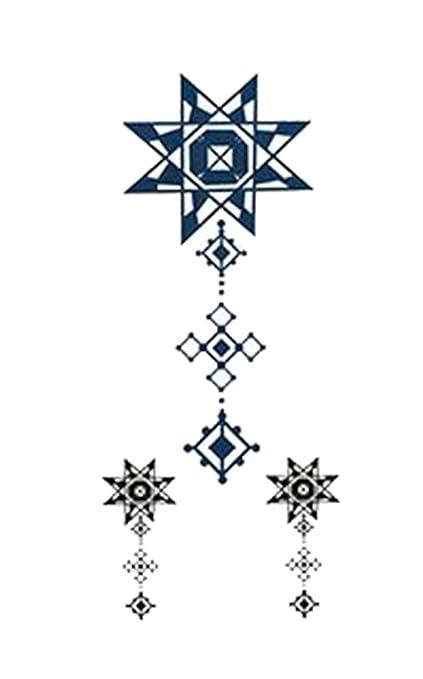 1 Satz Cool estrellas patrón de cadena de tatuaje pegatinas ...