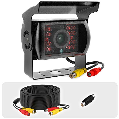 RCA rv Backup Camera Heavy Duty IR Night Vision Waterproof IP68 Wide View 12-24v Replacement Truck rv Rear View RCA Backup Camera with Cable 33ft
