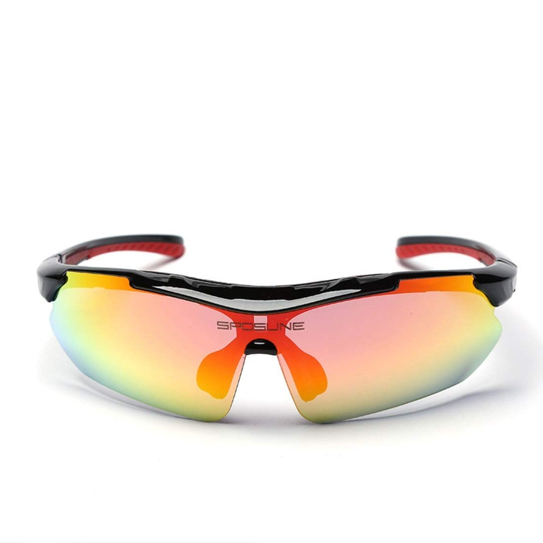 BAOYIT Outdoor Sports Glasses Riding Windproof Sand-Proof Mountaineering Fish Glasses for Women Men (Color : Black) by BAOYIT