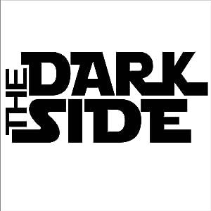 CCI The Dark Side Star Wars Decal Vinyl Sticker|Cars Trucks Vans Walls Laptop| Black |5.5 x 2.5 in|CCI528