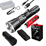 Klarus XT11GT Upgraded Version XT11X 3200 Lumens CREE XHP70.2 P2 LED Rechargeable Tactical Powerful Flashligh with Battery,Holster,car Charger,battety case