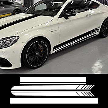 Universal 50/'/' Car Autos Hood Stripe Vinyl Body Panel Sticker Door Window Decal