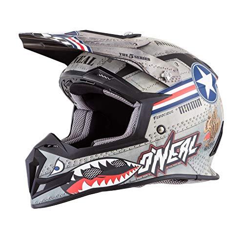 O'Neal Unisex-Adult Off-Road Style 5 SRS Wingman Helmet MTL/WHT XL (Metal/White, ()