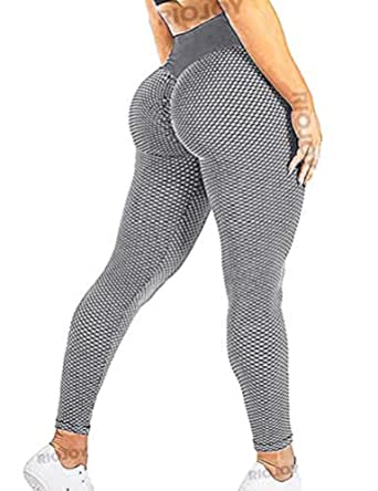 RIOJOY Gym leggings till kvinnor, high waist, sport, butt lifting, scrunch, yogabyxor