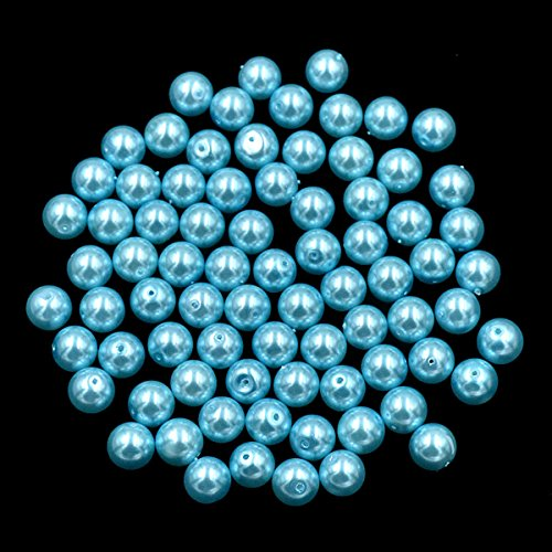 AD Beads Top Quality Czech Glass Pearl Round Loose Beads 3mm 4mm 6mm 8mm 10mm 12mm (6mm (200 Pcs), Aquamarine Blue) - 8mm Czech Glass Pearls Beads