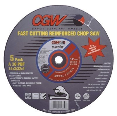 14' Abrasive Cut Off Wheel (SEPTLS42135685 - CGW Abrasives Type 1 Cut-Off Wheels, Chop Saws - 35685)