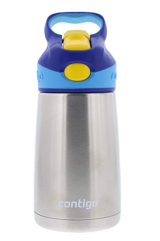 Contigo キッズ オートスパウト ステンレススチール 冷たい水ボトル 10オンス エアフォースブルー B07JWDJ9Z8