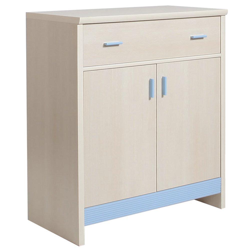 Furniture To Go 1 Drawer 2 Door Cupboard with Blue Trim, Wood Wojcik 4064148
