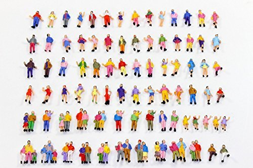Evemodel P100W Model Trains 1:87 Painted Figures HO TT (Model People Figures)