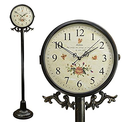 Y-Hui The Force of the Floor To Ceiling Reloj de doble cara con reloj