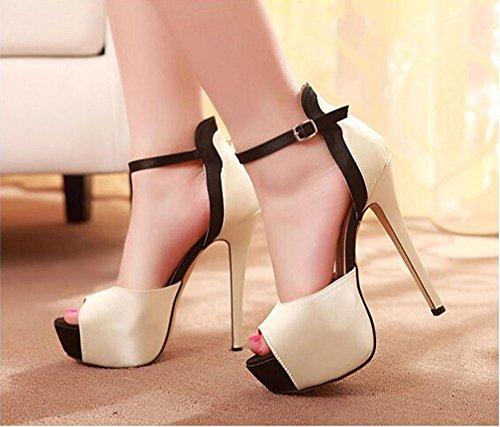 Hochzeit Schuhe große Yards Bannfarbe Sandalen Größe 35 -40,5
