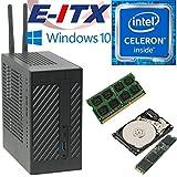 Asrock DeskMini 110 Intel Celeron G3930 Mini-STX System, 4GB DDR4, 120GB NVMe M.2 SSD, 1TB HDD, Win 10 Pro Installed & Configured by E-ITX