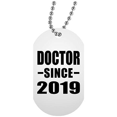 Doctor Since 2019 - White Dog Tag Collar Colgante Militar ...