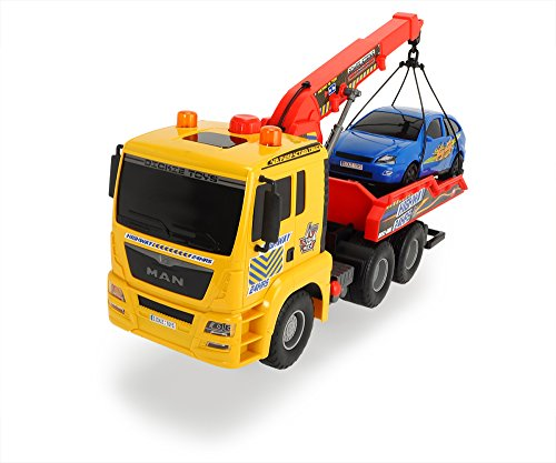 - DICKIE TOYS Air Pump Action Tow Truck, 21