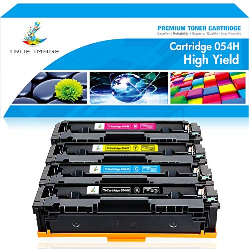 True Image Compatible Toner Cartridge Replacement for Canon 054H CRG-054 054 Canon ImageCLASS MF644Cdw LBP622Cdw MF642Cdw MF640C LBP620 MF644 Printer Ink (Black Cyan Yellow Magenta, 4-Pack)