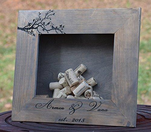 Cheap Wine Cork Shadow Box – Personalized Wine Cork Shadow Box – Wine Cork Holder – Wine Cork Display – Bottle Cap Holder – Wine Cork Keeper