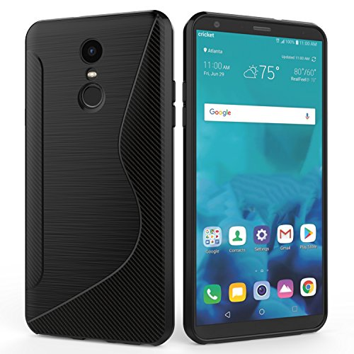 SLMY LG Stylo 4 Case,Q Stylus Case,Ultra [Slim Thin] Scratch Resistant TPU Rubber Soft Skin Silicone Protective Cases Cover for LG Stylo 4 2018- Black