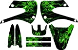 Kawaskai Green Flames Kx85 Kx 85 Graphic Kit 01-12 Green Graphics Decal Sticker Mx Kx100 100