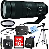 Nikon 200-500mm f/5.6E ED VR AF-S NIKKOR Zoom Lens for DSLR Camera Bundle includes 200-500mm NIKKOR Zoom Lens, Tripod, 16GB SDHC Memory Card, 95mm UV Filter, Deluxe Bag, Beach Camera Cloth and More!