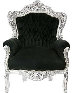 Casa Padrino Barock 3er Sofa Master Schwarz/Gold - Wohnzimmer Couch ...