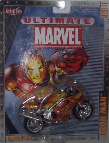 Maisto Ultimate Marvel Motorcycle - Iron Man Triumph Daytona 955i Diecast Motorcycle