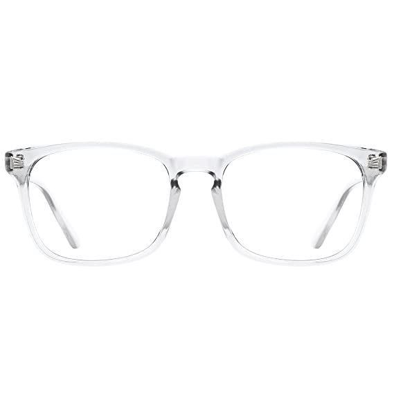 1aee4e3ada TIJN Blue Light Blocking Glasses Square Nerd Eyeglasses Frame Computer Game  Glasses  Amazon.ca  Clothing   Accessories
