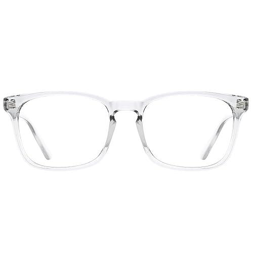 TIJN Blue Light Blocking Glasses Square Nerd Eyeglasses Frame Anti Blue Ray Computer Game Glasses best blue light blocking glasses for men