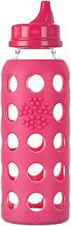 product image for Lifefactory 9-Ounce BPA-Free Glass Bottle, Raspberry