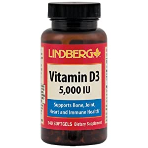 Lindberg Vitamin D3 5000 IU, 240 Softgels