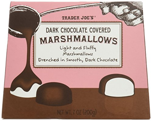 Trader Joes Dark Chocolate Covered Marshmallows - 2 Pack