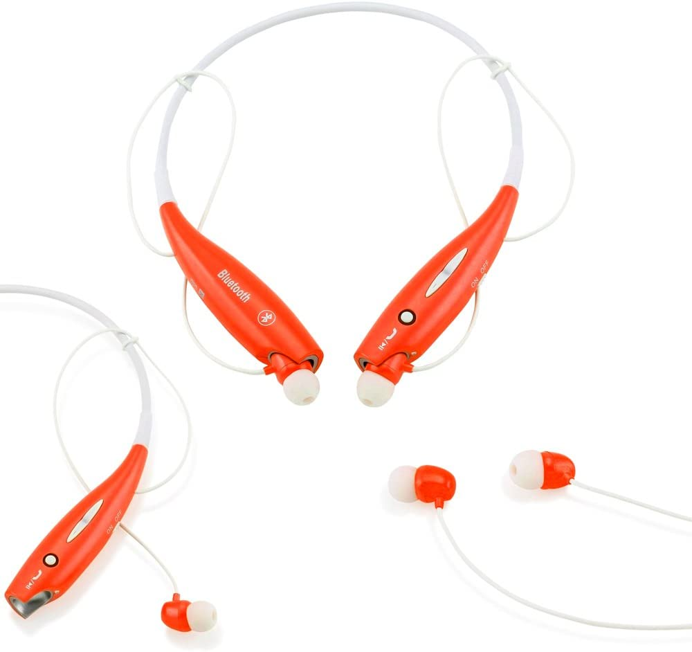 GEARONIC TM Wireless Sport Stereo Headset Bluetooth Earphone Headphone Compatible with Android or iPhone Orange