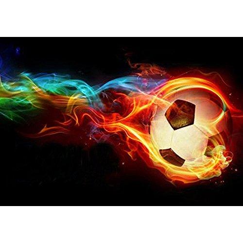 Soccer 1 Embroidery (Oucan 3040CM Diamond Painting Full Diamond Painting Kit Cross Stitch Kits Embroidery Art Crafts Diamond Painting for Adult,Candle,Soccer,Heart)