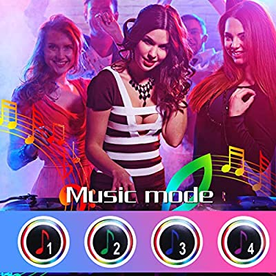 LED Strip Lights,NightScene 32.8FT LED Music Sync Color Changing Lights with 40keys Music Remote Controller and 12V5APower Supply, RGB SMD5050 300 led lights for Room, Bedroom, TV, Party.