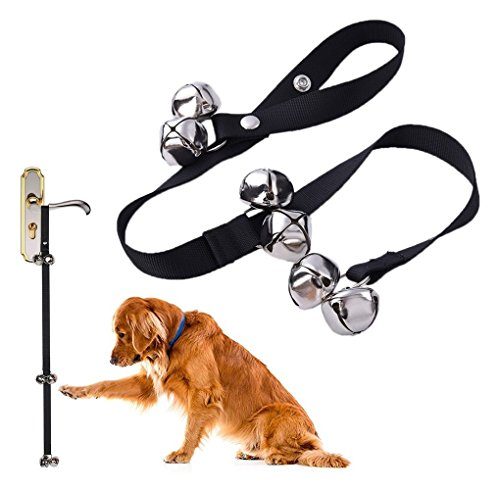ANJOSHI Dog Bells for House Potty Training Your Puppy, Loud Sound Even A Puppy Can Hear, Adjustable Loop and Length Fits Every Size Dog and All Door Handles