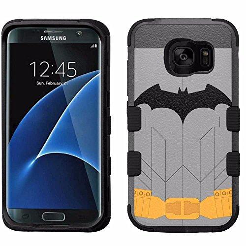 for Samsung Galaxy S7 Edge, Hard+Rubber Dual Layer Hybrid Heavy-Duty Rugged Armor Cover Case - Batman Suit