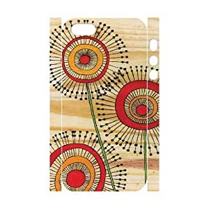 Customized Phone Case with Hard Shell Protection for Iphone 5,5S 3D case with Dandelion Art lxa#428900