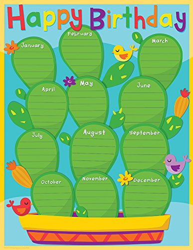 Paper Magic Educational A Sharp Bunch Birthday Chart (837252)