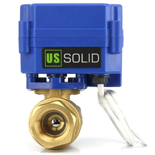 Motorized Ball Valve- 3/4'' Brass Electrical Ball Valve with Standard Port, 9-24V AC/DC and 3 Wire Setup by U.S. Solid … by U.S. Solid