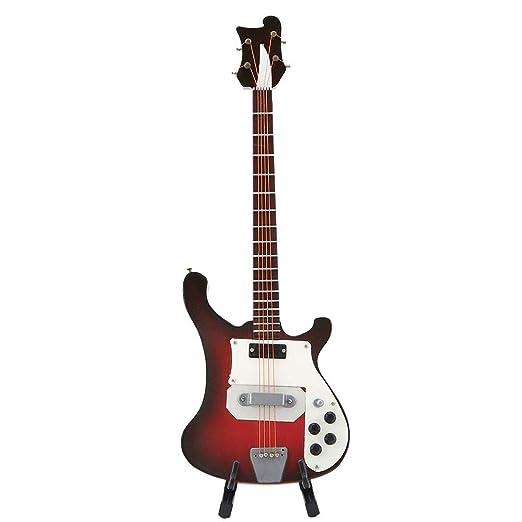 Modelo de Guitarra de Madera, Exquisita Miniatura de Madera Modelo ...